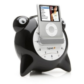 Unique Alarm Clock/Speaker System for Ipod