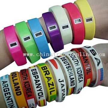 Silicone Bracelet Watches / Silicone Wristbands