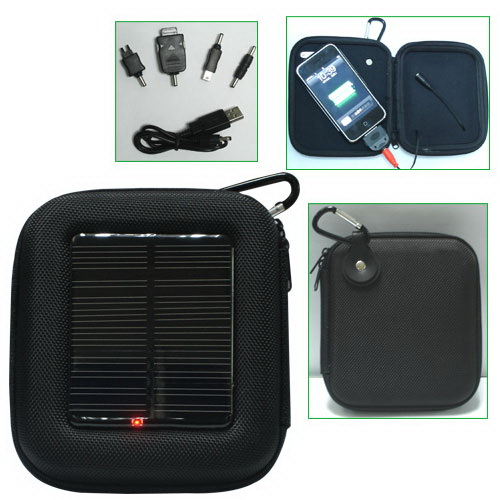 Wholesale -2pcs/lot Free shipping mini solar charging bag,fit for cell phone